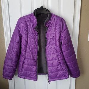 Purple small puffer jacket